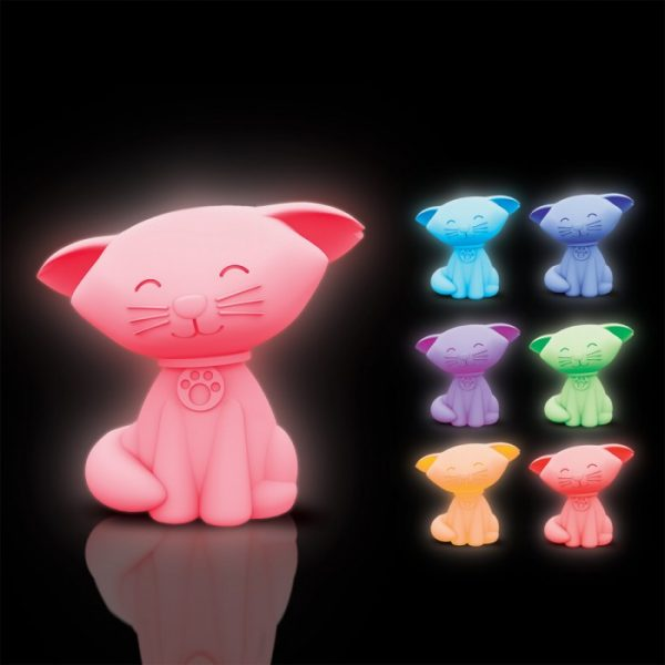 veilleuse en forme de chat multicolore une lampe originale wam la boutique metz